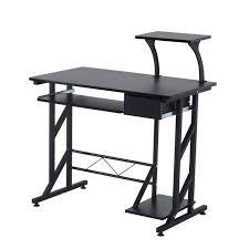 bureau informatique design bureau informatique design en mdf 90 l x 50 i x 95h cm noir 18bk