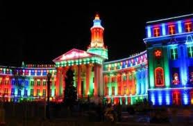 christmas spotlights christmas lights at the denver city county building cave news