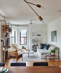 livingroom nyc a bk home that looks so much bigger than it is small spaces