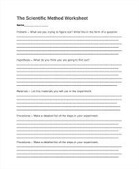 sample scientific method worksheet 8 free documents download in