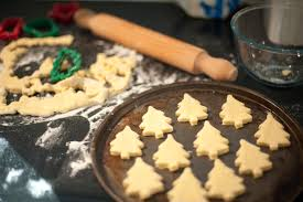 baking homemade christmas cookies free stock image