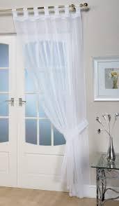 voile panels u0027opaque u0027 white tab top curtain panel
