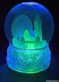 Large 100mm Colourful Light Up London Snow Globe