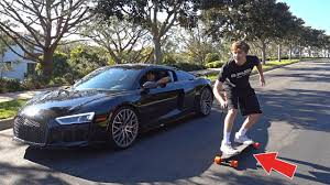 Audi R8 Faze Rain - audi r8 vs boosted board youtube