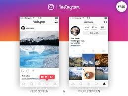 instagram layout vector illustrator instagram feed profile screen free ai by marina dribbble
