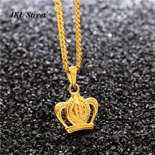hip necklace chain images Kids gold color 3d mirco royal crown pendant lover necklace 24 jpg