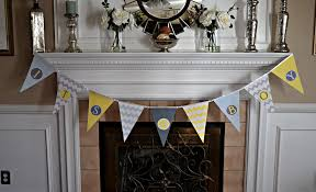 baby shower banner ideas baby shower pennant banner tutorial my of style my