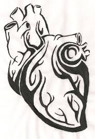 tribal human heart by raywoman on we heart it