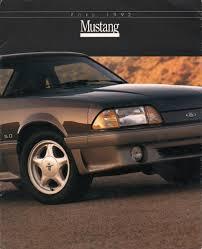 1992 Ford Thunderbird Ford 1992 Mustang Sales Brochure