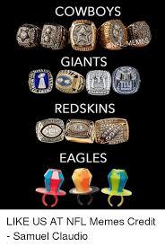 Funny Redskins Memes - cowboys giants hion redskins eagles like us at nfl memes credit