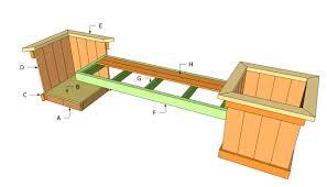 planter box bench seat plans free download pdf woodworking planter