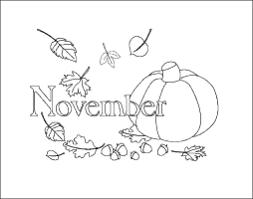 november calendar coloring coloring