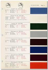 pca 912 u0026 912e register porsche standard paint colors 1964 1969