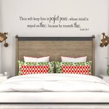 isaiah 26 3 kjv bible verse wall decal scripture vinyl