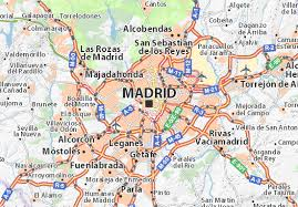map of madrid michelin madrid map viamichelin