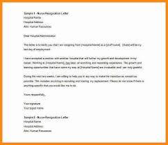 nurse resignation letter howto billybullock us
