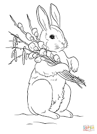 easter rabbit coloring page free printable coloring pages