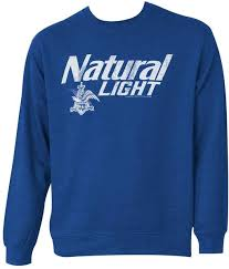 natty light t shirt natty light logo crew neck bue sweatshirt medium merch online raru