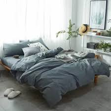 Comfortable Bed Sets 100 Washed Cotton Soft Comfortable Bedding Set Bed Cover Sets