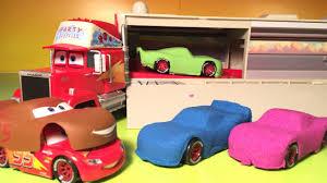 disney pixar cars jocko flocko mack diy kinetic sand cars 3