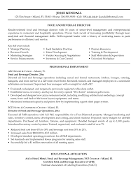 human resource management resume examples food and beverage manager resume examples free resume example sample resume food service resume exle with director