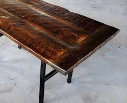 industrial work table outdoor metal dining table rustic dining