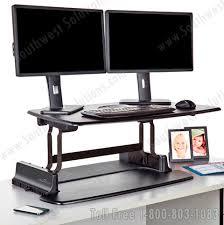 Stand Up Computer Desk Adjustable Adjustable Height Desk Platforms Sit And Stand Up Workstations