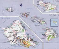 map of hawaii cities large detailed road map of hawaii islands with all cities and