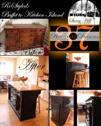 Buffet Kitchen Island Finished Kitchen Island From Craigslist Buffet 125 To Kitchen
