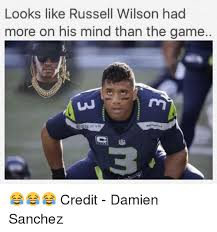 Russell Wilson Memes - looks like russell wilson had more on his mind than the game of