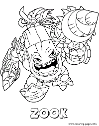 skylanders giants life series2 zook coloring pages printable