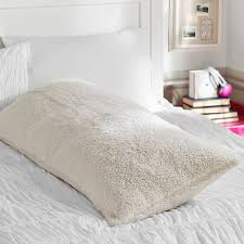 Pottery Barn Faux Fur Pillow Faux Fur Sherpa Body Pillow Cover Pbteen