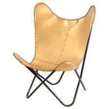 Memory Foam Butterfly Chair Fashion N You Gold Leather Butterfly Lounge Chair U0026 Reviews Wayfair