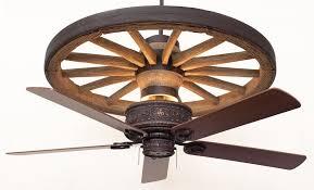 Western Ceiling Fans With Lights Cheyenne Wagon Wheel Ceiling Fan