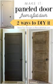 Six Panel Oak Interior Doors Update A Plain Hollow Core Door Into A Beautiful 5 Panel Door