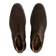 russell u0026 bromley ridgeway zip chelsea boot brown suede men
