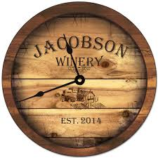 personalized clocks with pictures winery personalized wall clock