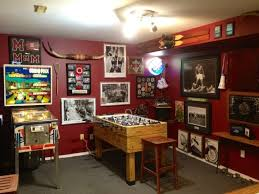 wonderful basement video game room ideas with poker table and