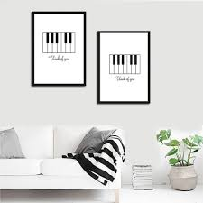 online shop modern unframed painting abstract piano think of you