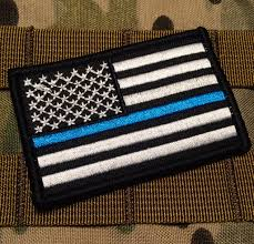 State Flag Velcro Patches Tactical Police Law Enforcement Thin Blue Line United States Flag