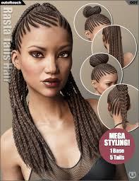 rasta hairstyles for women rasta tails hair and oot hairblending 2 0 for genesis 3 female s
