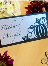 Table Setting Cards - place cards shimmering ceremony
