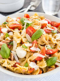 pasta salad with italian dressing plated cravings