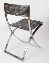 folding dining chairs six stainless steel 1960s folding dining chairs luisa by marcello