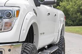nissan titan quick lift rough country pocket fender flares w rivets for 16 17 nissan titan