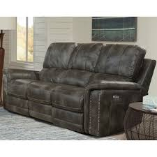 Parker Sofa Belize Dual Power Recliner Sofa With Usb And Power Headrest In