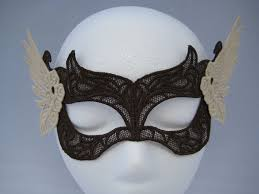 handmade valkyrie lace mask brown and cream by miss adenine