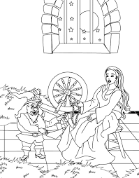 coloring pages miller u0027s daughter giving necklace