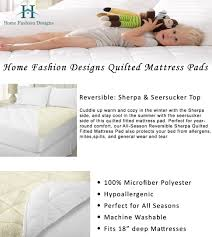 amazon com all season sherpa quilted fitted mattress pad two in