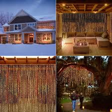 String Lights Over Pool by Amazon Com Led Concepts 300 Led Icicle Curtain String Lights With